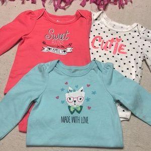 Baby Girl 6-9 month LS 3pc bundle